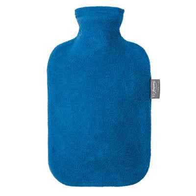 Θερμοφόρα νερού με μπλε Fleece κάλυμμα Fashy 2 Lit